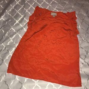 Orange silk top